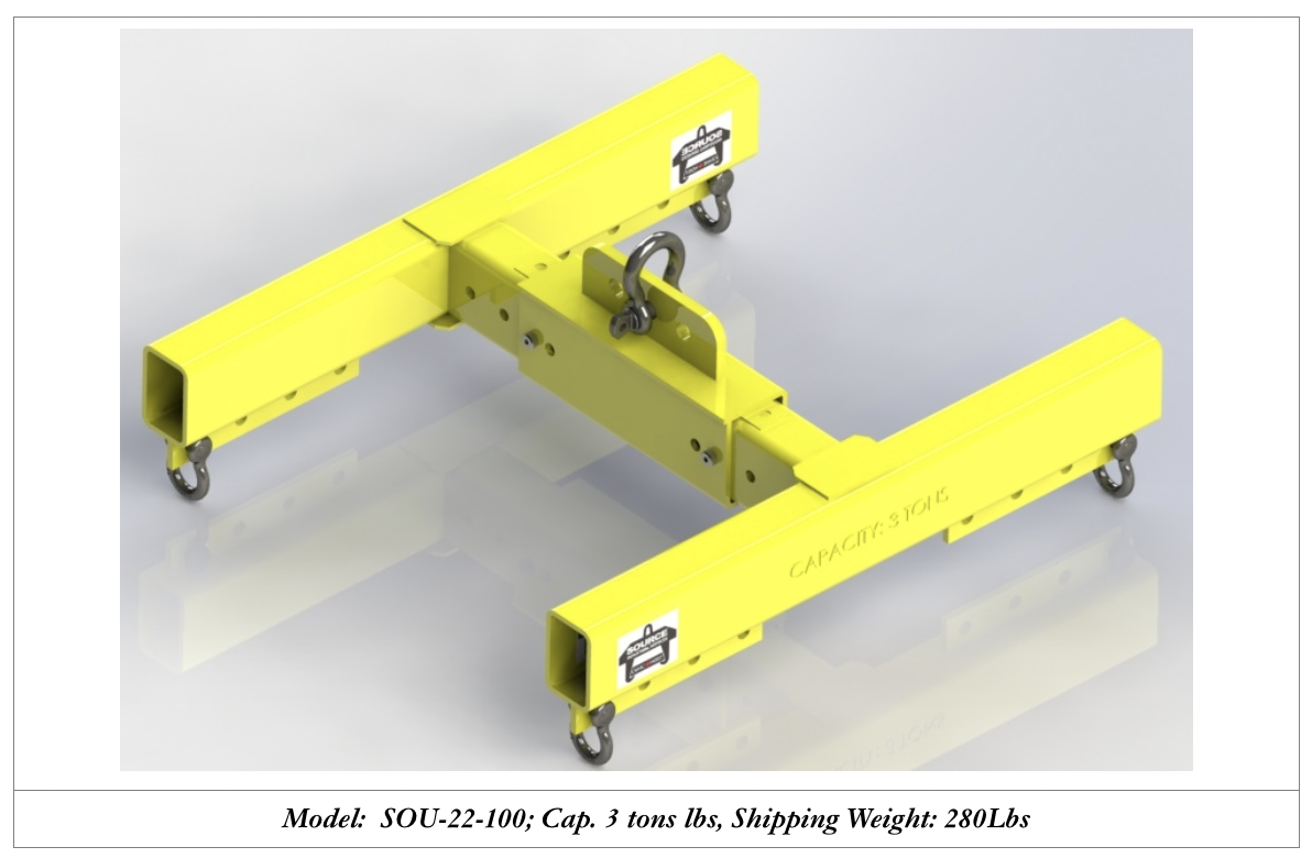 3 ton lifting attachments for overhead cranes