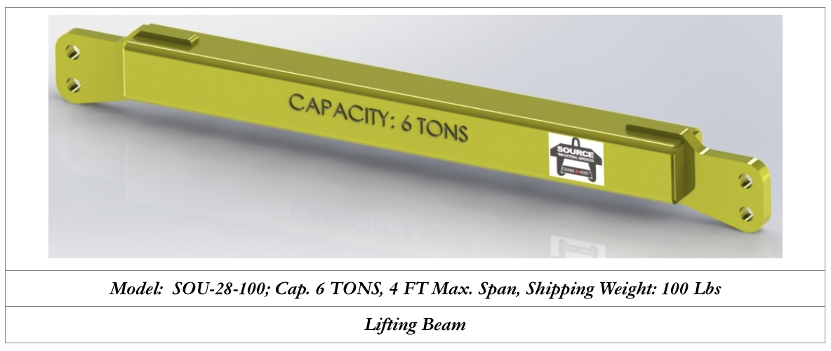 6 tons capacity lifting beam for sale ontario
