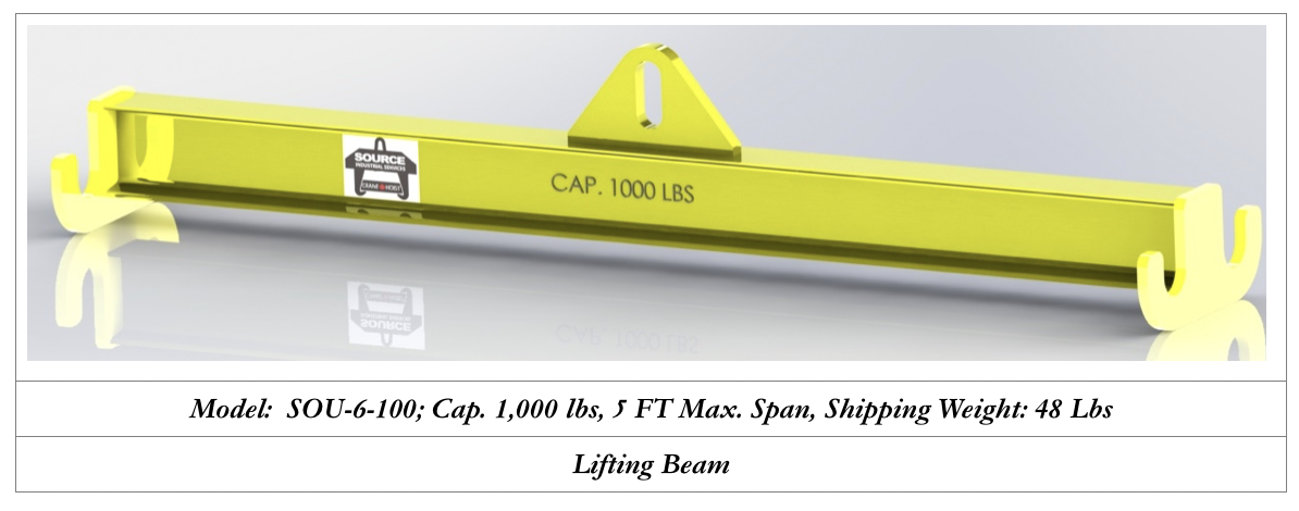 1000 lbs lifting beam manufacturers in canada